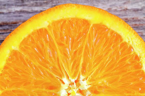 Photograph - Fresh Organic Navel Orange Fruit by Teri Virbickis
