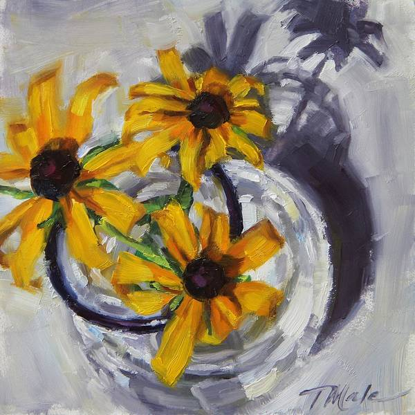 Painting - Fresh Picked Daisies by Tracy Male