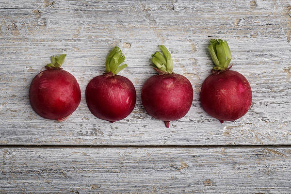 Bright Photograph - Fresh Radish by Nailia Schwarz