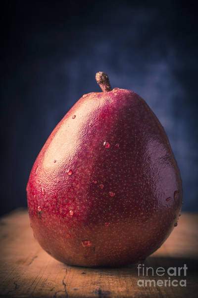 Photograph - Fresh Ripe Red Pear by Edward Fielding