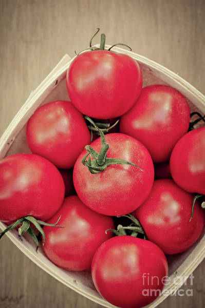 Photograph - Fresh Ripe Tomatoes by Edward Fielding