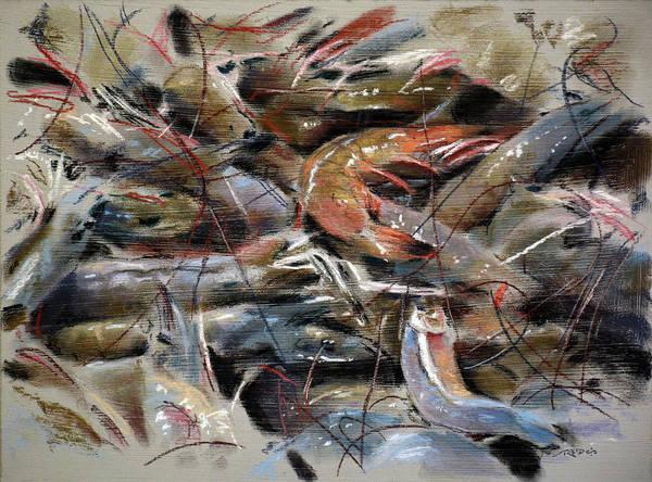 Painting - Fresh Shrimp by Christopher Reid