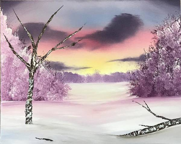 Wall Art - Painting - Fresh Snow In The Morning by Willy Proctor