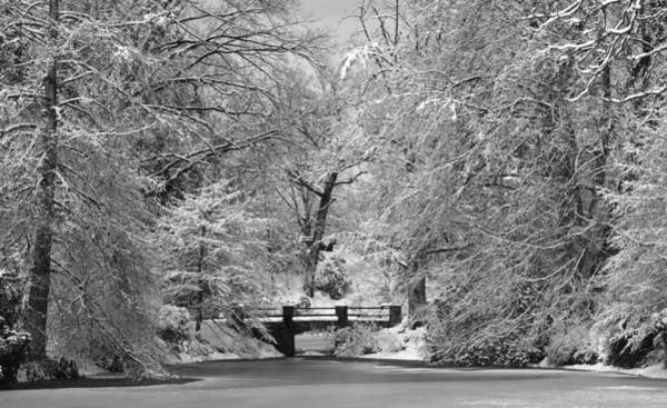 Photograph - Fresh Snowfall At Mount Auburn Cemetery by Ken Stampfer