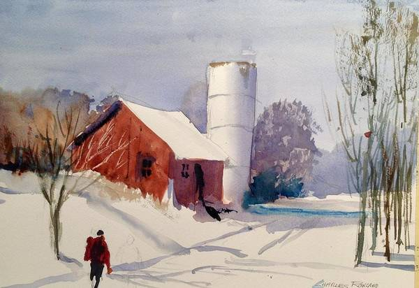 Painting - Fresh Snowfall by Charles Rowland