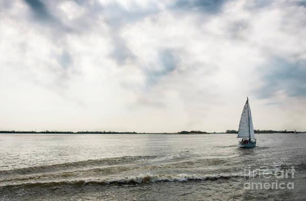 Photograph - Fresh Spring Wind.yacht On The River by Marina Usmanskaya