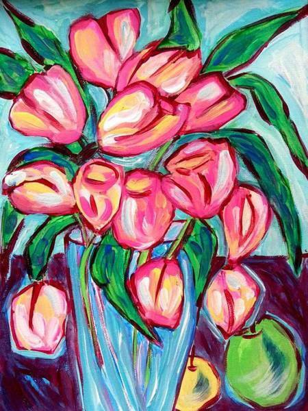 Painting - Fresh Tulips by Nikki Dalton