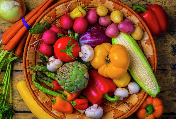 Wall Art - Photograph - Fresh Vegetables by Garry Gay