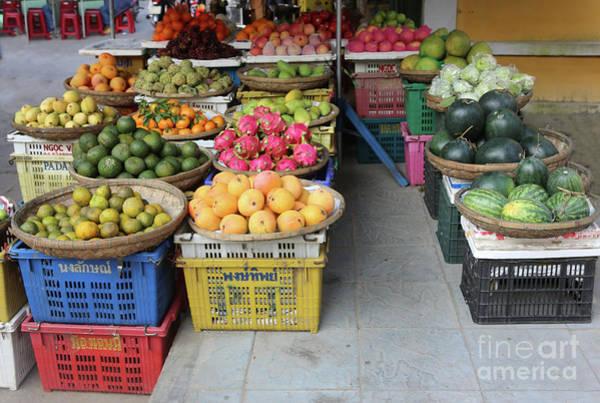 Hoi An Photograph - Fresh Veggies Fruit Streets Vietnam  by Chuck Kuhn