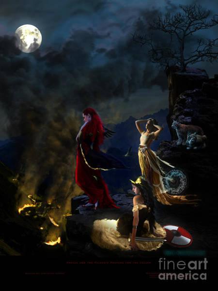 Valkyrie Digital Art - Freyja And The Valkyrie by Anthony Cady