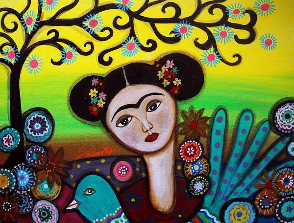 Painting - Frida And Bird by Pristine Cartera Turkus
