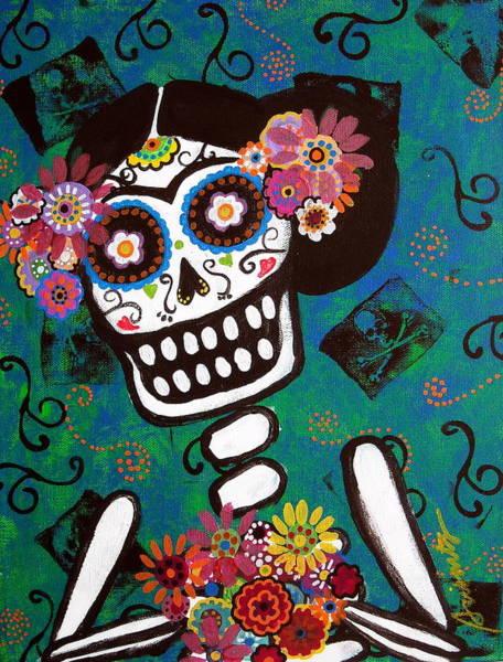 Painting - Frida Dia De Los Muertos by Pristine Cartera Turkus