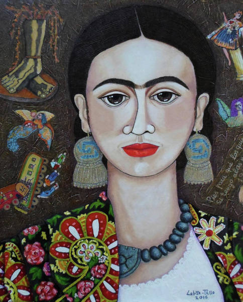 Painting - Frida Thoughts  by Madalena Lobao-Tello