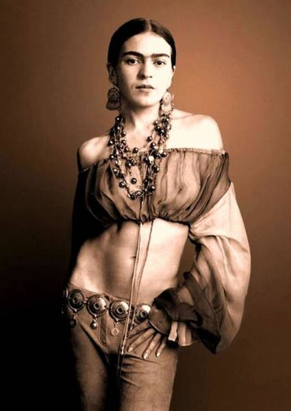 Kahlo Photograph - Frida In Costume by Pg Reproductions