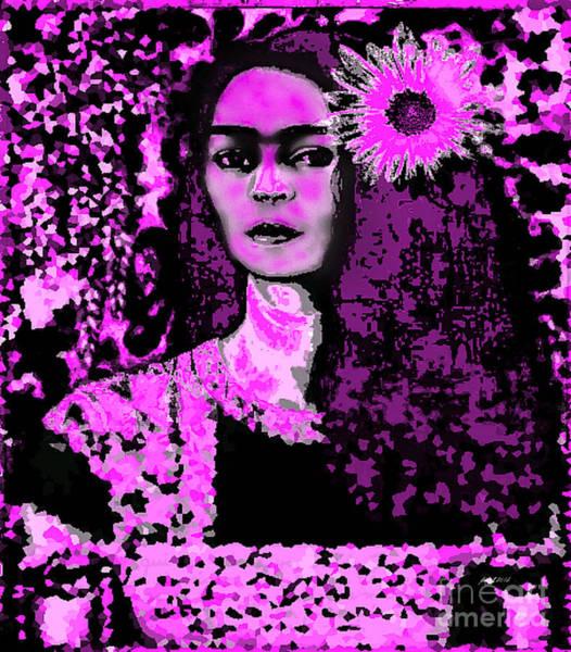 Wall Art - Digital Art - Frida In Frida Pink by Fania Simon