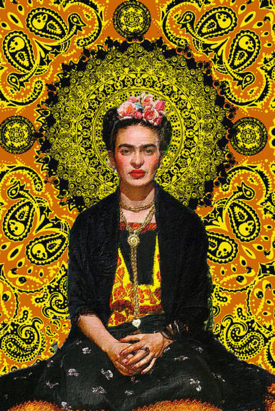 Painting - Frida Kahlo 3 by Tony Rubino