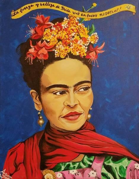 Flower Painting - Frida Kahlo by Autumn Leaves Art