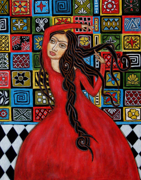 Folk Painting - Frida Kahlo Flamenco Dancing  by Rain Ririn
