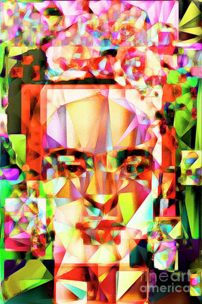 Kahlo Photograph - Frida Kahlo In Abstract Cubism 20170326 V4 by Wingsdomain Art and Photography