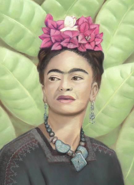 Pastel - Frida Kahlo by Linda Ruiz-Lozito