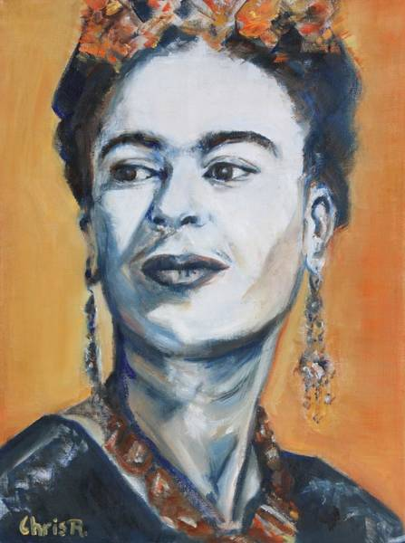 Painting - Frida Kahlo Portrait by Christel Roelandt