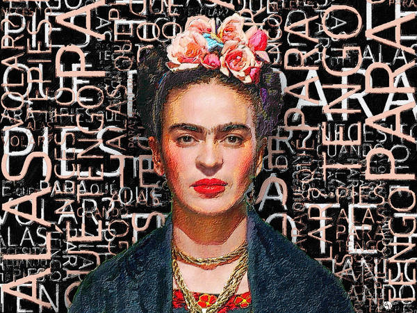 Painting - Frida Kahlo by Tony Rubino