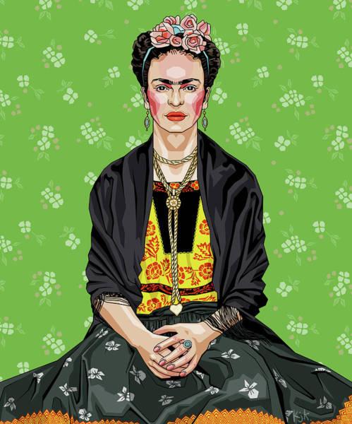 Feminist Digital Art - Frida by Kelly Jade King