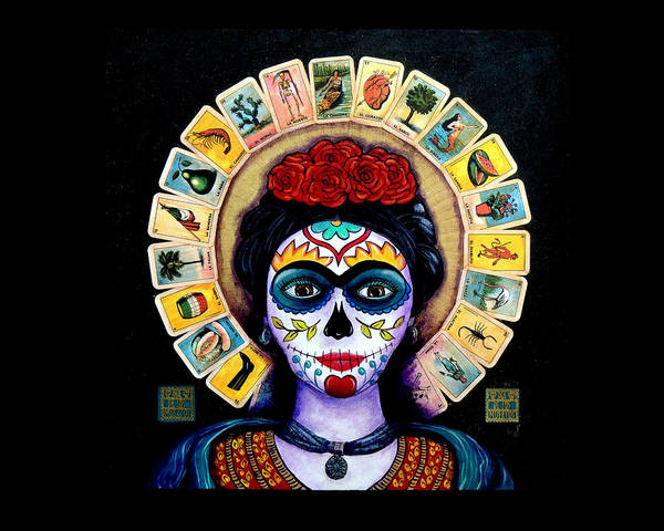 Wall Art - Painting - Frida Loteria by Candy Mayer