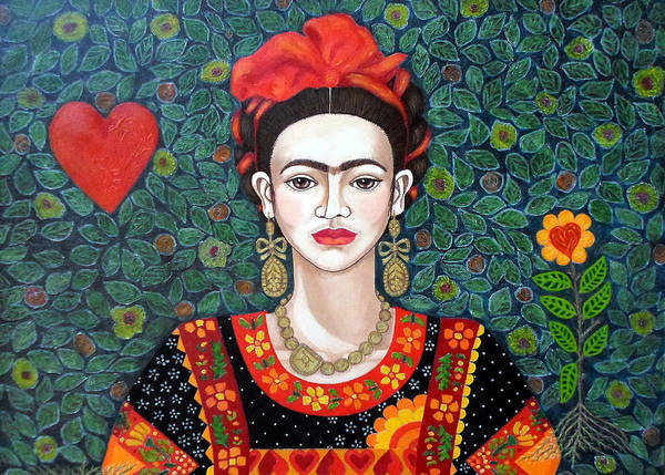 Painting - Frida Queen Of Hearts Closer I by Madalena Lobao-Tello