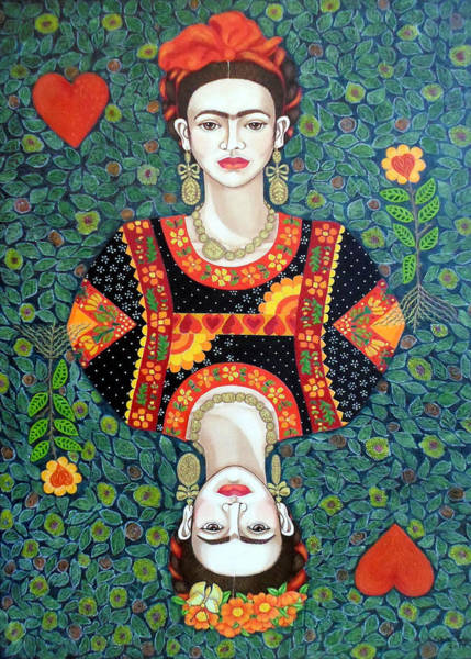 Painting - Frida Queen Of Hearts by Madalena Lobao-Tello