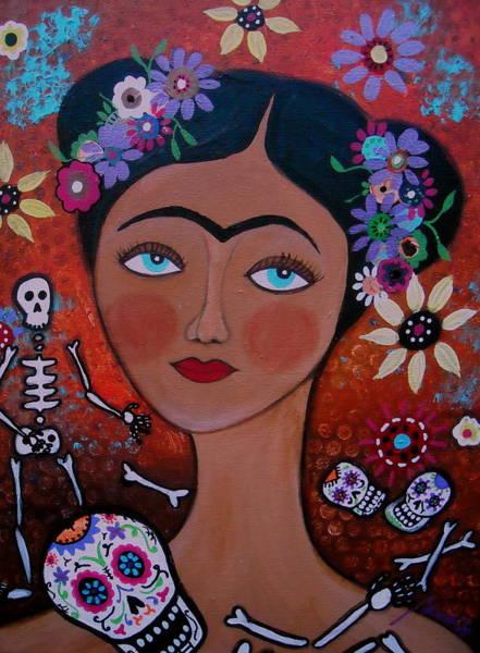 Painting - Frida With Skulls by Pristine Cartera Turkus