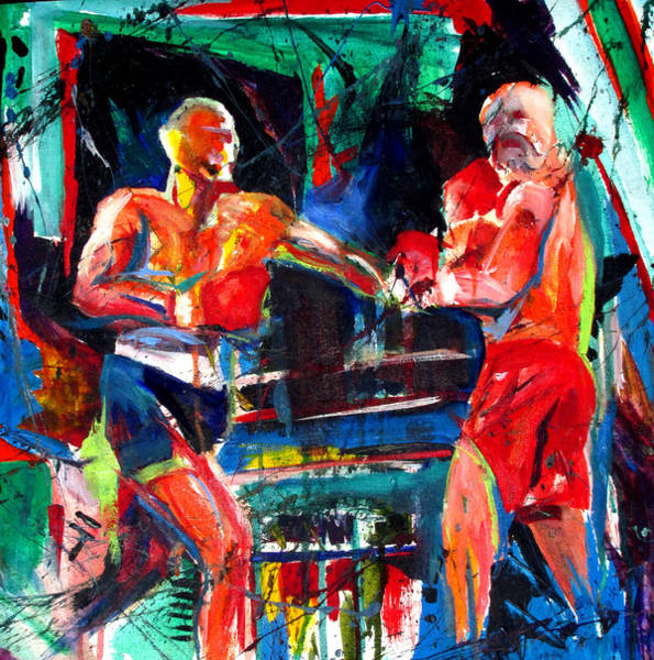 Painting - Friday Fight by John Jr Gholson