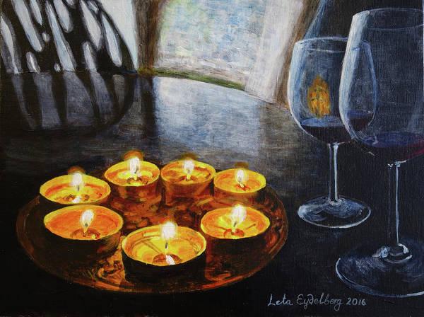 Leta Eydelberg Wall Art - Painting - Friday Night by Leta Eydelberg