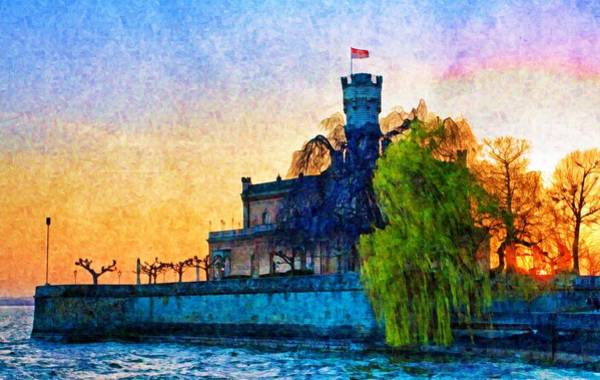 Photograph - Friedrichshafen Castle At Sunset by Tatiana Travelways