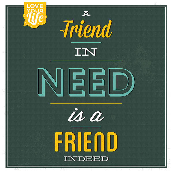 Wall Art - Digital Art - Friend Indeed by Naxart Studio