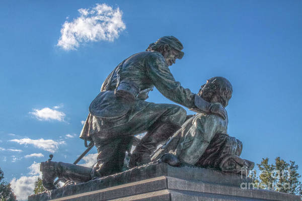 Cemetery Ridge Photograph - Friend To Friend Monument Gettysburg by Randy Steele
