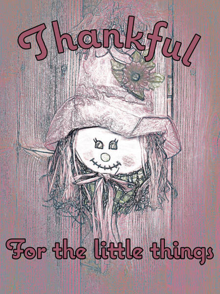 Little Things Photograph - Friendly Face - Thankful by Leslie Montgomery