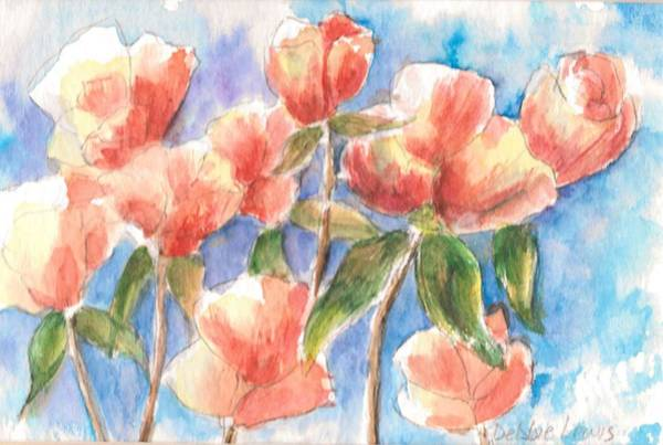 Painting - Friendly Flowers by Debbie Lewis
