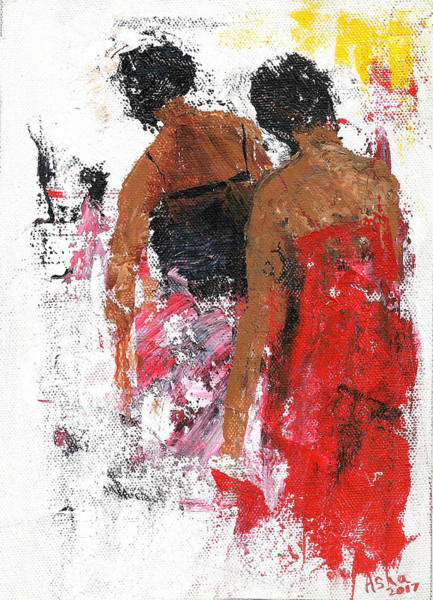 Painting - Friends by Asha Sudhaker Shenoy