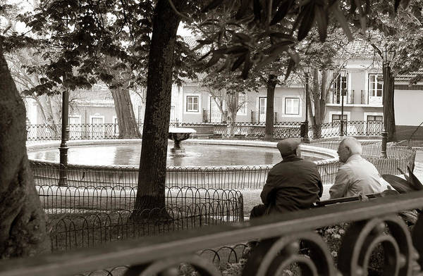 Photograph - Friends At The Fountain by Lorraine Devon Wilke