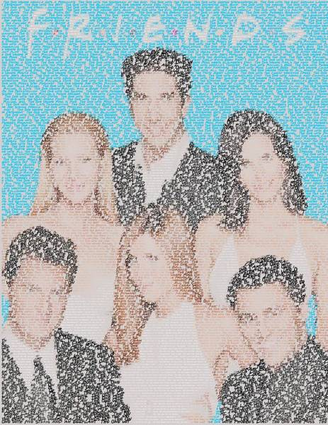 Ncs Digital Art - Friends Episode Mosaic by Paul Van Scott
