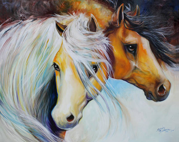 Wall Art - Painting - Friends Forever Equine Art  Stand By Me by Marcia Baldwin