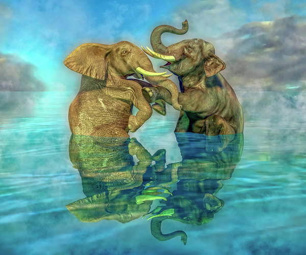 Wall Art - Digital Art - Friends Forever Splashless by Betsy Knapp