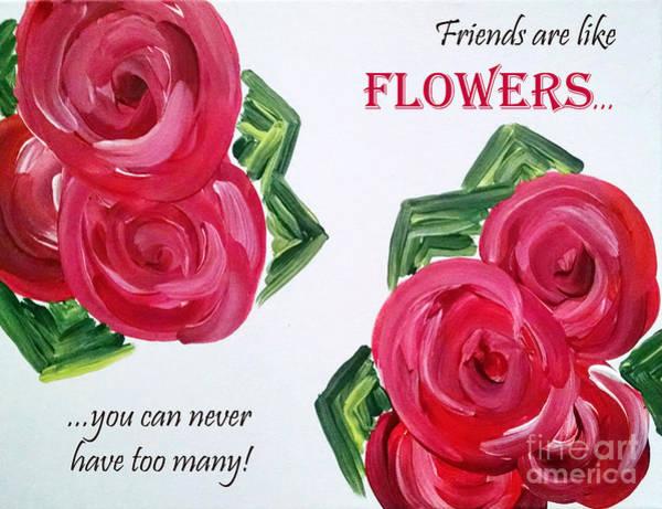 Painting - Friends Like Flowers by Jilian Cramb - AMothersFineArt