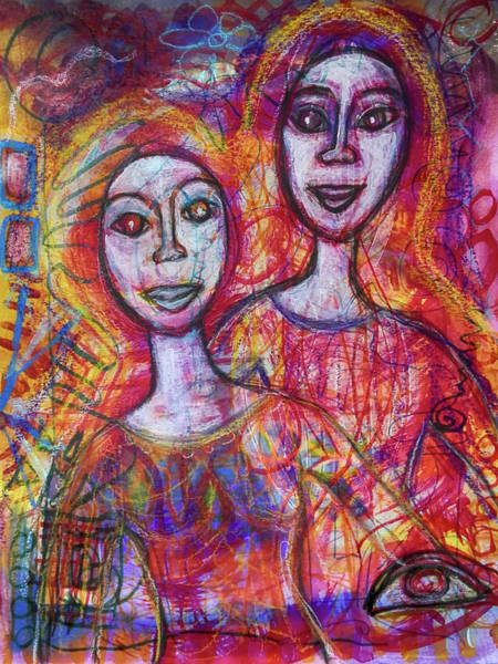 Mixed Media - Friends by Mimulux patricia No