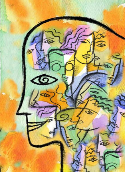 Wall Art - Painting - Friends Network by Leon Zernitsky
