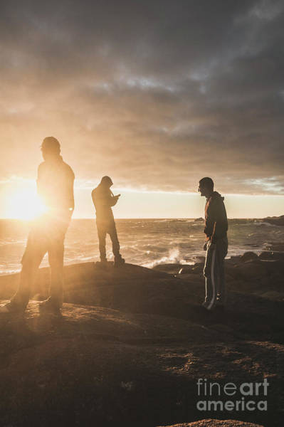 Australians Photograph - Friends On Sunset by Jorgo Photography - Wall Art Gallery