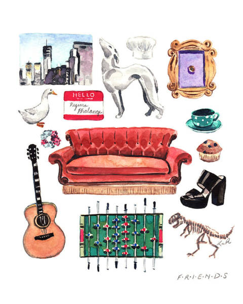 Wall Art - Painting - Friends Tv Show Collage by Laura Row