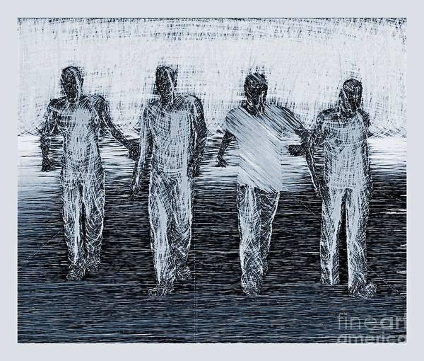 Digital Art - Friends Two by Lance Sheridan-Peel