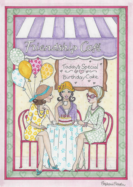 Mixed Media - Friendship Cafe by Stephanie Hessler